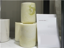 Light Green Marble Cup ,Bath Canister
