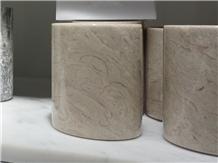 White Crabapple Marble Cup Bathroom Tumbler