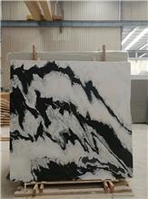 Panda White Marble Slabs, Flooring Tiles
