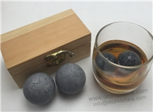Galaxy Grey Granite Whiskey Rocks Gift Set