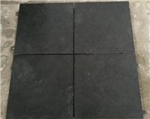 G778 Black Basalt Floor Tiles Flamed