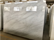 China Carrara Guangxi White Marble Slab Floor Tile
