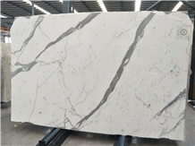 Italy Calacatta White Marble Book Match Wall Stone