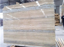 Ocean Blue Travertine Vein Slabs Floor Wall Tiles