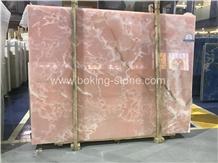 Pure Pink Onyx Iran Onyx Slabs