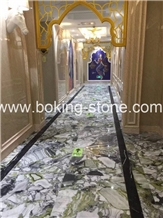 White Beauty Ice Green Jade Marble Slabs Project