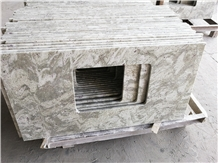 Andromeda White Granite Bath Vanity Countertop