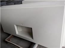 Maple White Quartz Kitchen Countertops