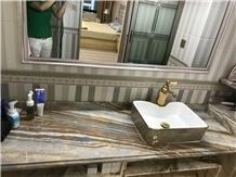 Roma Impression Lafite Marble Bath Vanity Tops