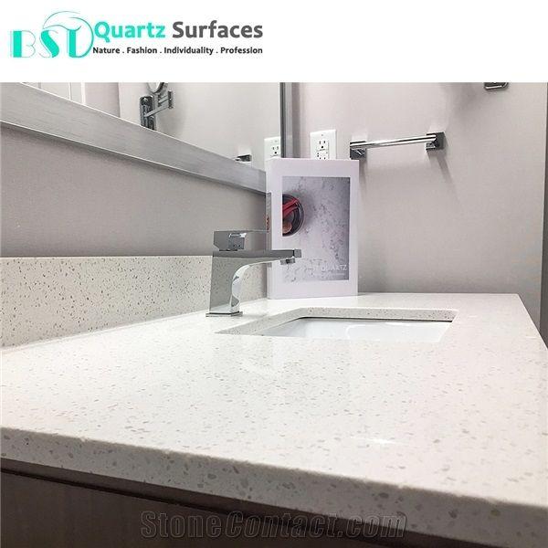 White Sand Quartz Stone Countertop