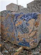 Brazil Blue Granite Big Blue Sodalite Block
