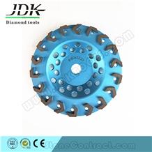 High Quality Segments Arrow Diamond Cup Wheel