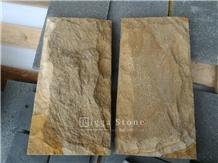 Yellow Palimanan Sandstone Mushroom Stone Wall