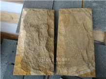 Yellow Palimanan Sandstone Split Face Wall Tiles