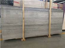 China Own Quarry Blue Wooden Vein Marble