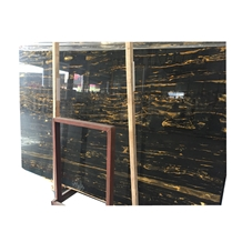 Hot Sale China Supreme Black Gold Flower Marble