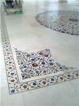 Inlaid Stone Floor Medallion