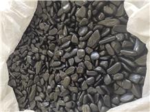 Black Decorative Polished River Pebble