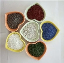Colored Crushed Ceramic Aggregate for Flooring