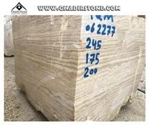 Tb-0040, Iran Beige Travertine Block