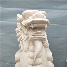 Cheap White Marble Lion Statues, Carved Sculptures