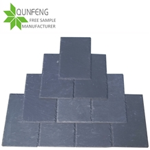 China Natural Black Stone Slate Roof Tiles