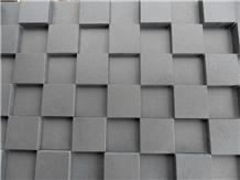 Absolute Black Honed Basalt Lava Cobblestone Paver