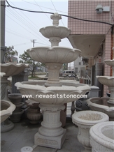 Hand Carving Horses Granite Stone Water Fountain