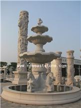 Outdoor Modern Decorative Horses Granite Fountain