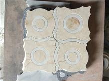China Oriental White Marble Waterjet Marble Mosaic