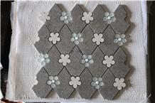 Cinderella Grey Marble Water-Jet Marble Mosaics