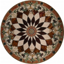 Spain Crema Marfil Waterjet Marble Medallion
