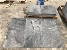 New Atlantic Grey Sky Blue Honed Granite Tiles