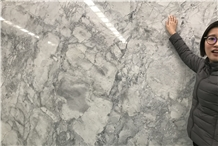 Super White Quartzite Big Slabs 2cm Honed Polished