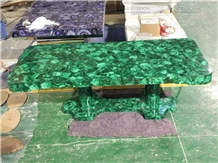 Custom Design Precious Stone Malachite Table