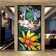 Foshan Polished Glass Pattern Wall Mosaic Design