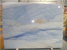 Azul Tropical Quartzite Blue Tiles Slabs Floor