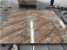 China Diamond Golden Granite Polished Slabs Tiles