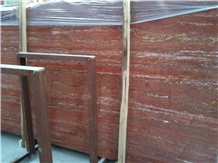 Red Travertine Wall Floor Tiles Slabs Decoration
