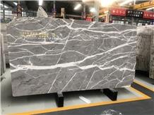 Sky Grey Marble Polished Wall Tiles Slabs Floor