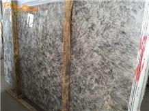 China Snow Silver Fox Alps Grey Marble Slabs Tiles