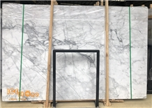 Chinese Arabescato White Marble Slabs Tiles