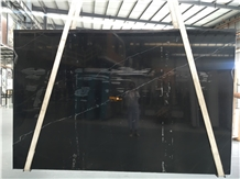 Chinese Polished Nero Marquina 2.0cm Marble Slabs