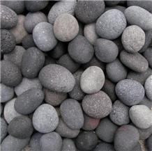 Indonesia Black Volcanic Lava Pebble Stone