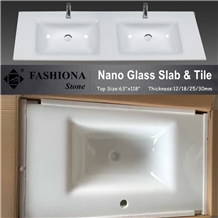 White Nano Crystallized Glass Stone,Counter Tops