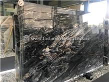 Best Price Mystic River Black Marble Slabs&Tiles