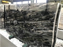 China Mystic River Black Marble Slabs&Tiles