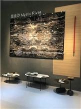 Hot Sale Mystic River Black Marble Slabs&Tiles