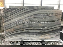 Roma Impression Blue Marble Slabs for Wall