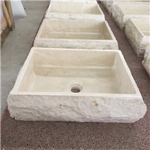 New Cream Marfil Marble Basins
